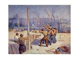 Les Batteurs De Pieux, 1900 Giclee Print by Maximilien Luce