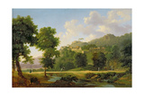 Landscape with a Rider, C.1808-10 Giclee Print by Jean Victor Bertin