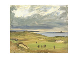 The Golf Links, North Berwick, 1919 Giclee Print by Sir John Lavery