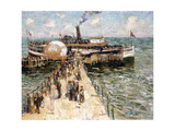 The Excursion Boat Giclee Print by Ernest Lawson
