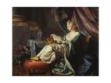 A Young Sultan Reading a Letter Giclée-Druck von Louis Michel Van Loo