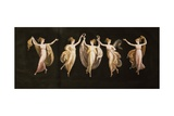 Dancers with Veils and Crowns Giclee Print by Antonio Canova