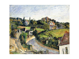 The Winding Road, C.1877 Giclee Print by Paul Cézanne