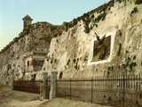 Execution Wall in La Cabaña, Havana, 1904 Photographic Print