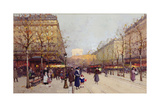 Les Champs Elysees, Paris Giclee Print by Eugene Galien-Laloue