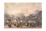 French Camp at Susa in 1859 Giclee Print by Carlo Bossoli