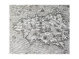 Map of Sumatra, Engraving Giclee Print by Andre Thevet