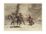 Rough Play Giclee Print by Eugene Alexis Girardet