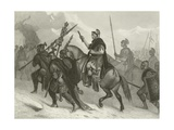 Hannibal and His Army Crossing the Alps, 218 BC Giclee Print by Alonzo Chappel