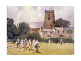 Bowls Match, Sidmouth Giclee Print by Trevor Chamberlain