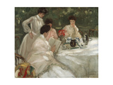 Tea in the Garden Giclee Print by Frederick Carl Frieseke