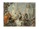 Musical Entertainment Giclee Print by Johann Georg Platzer