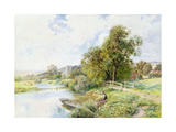 The Young Angler Giclee Print by Arthur Claude Strachan