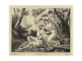 Two Lovers in a Landscape Giclee Print by Angelica Kauffmann