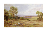 Cumberland Hills from Wardrew House, Gilston Giclee Print by James Aumonier