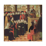 The Preaching of St. Ambroise Giclee Print by Ambrogio Borgognone