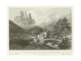 Valley of Engeholle and Ruins of Schonberg Giclee Print by William Tombleson