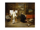 Pergolese in the Studio of Joseph Vernet, 1880 Giclee Print by Lucien Alphonse Gros