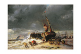 Low Tide, 1861 Giclee Print by Louis Eugene Gabriel Isabey