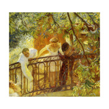 Carriage in Waiting Giclee Print by Gaston De Latouche