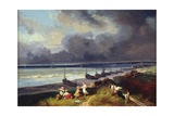 View of Dieppe Giclee Print by Louis Eugene Gabriel Isabey