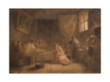 The Death of Poussin Giclee Print by Francois-Marius Granet