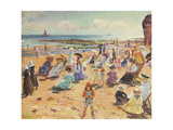 Beach Scene, 1909 Giclee Print by William Samuel Horton