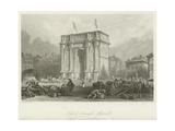 Arch of Triumph, Marseilles Giclee Print by Thomas Allom