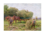 Haymaking Gicleetryck av Hopkins, Arthur