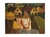 A Couple in a Village; Le Couple Au Village, 1930 Giclee Print by Gustave de Smet