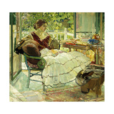 Afternoon Tea Giclee Print by Richard Edward Miller