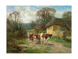 By the Barn Giclee Print by Charles James Adams