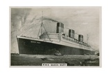 Rms Queen Mary, Cunard Ocean Liner Giclee Print