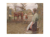 Feeding Time, 1908 Giclee Print by Harold Harvey
