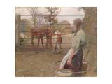Feeding Time, 1908 Giclee Print by Harold Harvey