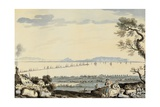 View of Dublin Bay and Harbour, Hill of Howth Giclee Print by John Henry Campbell