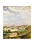 Sussex Landscape Giclee Print by Christopher Richard Wynne Nevinson
