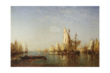 Shipping on the Grand Canal, Venice Giclee Print by Felix Ziem
