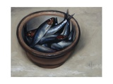 Stoneware Bowl, Full of Sprats, 2013 Giclee Print by James Gillick