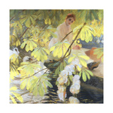 Under the Tree Giclee Print by Gaston De Latouche