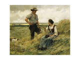 A Break from the Harvest Giclee Print by Julien Dupre