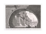 Magnificent Bridge with Loggia , 1753-1837 Giclee Print by Giovanni Battista Piranesi