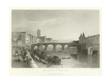 The Bridge of Toulouse Giclee Print by Alphonse Marie de Neuville