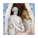 Blue Curtains, 1924 Giclee Print by Frederick Carl Frieseke