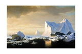 Icebergs, 1882 Giclee Print by William Bradford