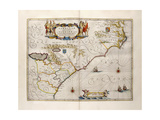 Map of Virginia and Florida, 1667 Giclee Print by Joan Blaeu