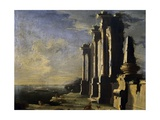 Ruins by Sea Giclee Print by Leonardo Coccorante