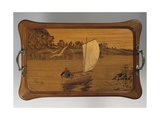 Tray with Lake Scene Giclee Print by Louis Majorelle