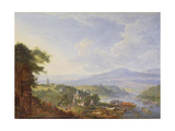 View on the Rhine, Near Cologne, C.1700-10 Giclee Print by Jan The Elder Griffier
