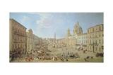 Rome, Piazza Navona Giclee Print by Gaspar van Wittel
